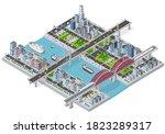 Isometric 3d Illustration City...