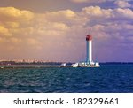 vorontsov lighthouse vintage... | Shutterstock . vector #182329661