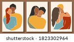 set of abstract man and female... | Shutterstock .eps vector #1823302964
