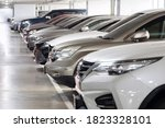 view of row of cars inside... | Shutterstock . vector #1823328101