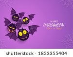 creepy bats background on... | Shutterstock .eps vector #1823355404