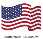 usa design over white ... | Shutterstock .eps vector #182336099