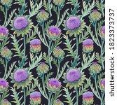 beautiful seamless floral... | Shutterstock . vector #1823373737