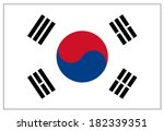 south korea flag  | Shutterstock .eps vector #182339351