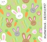 cute easter bunny vector... | Shutterstock .eps vector #1823411957