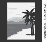 summer background   stock... | Shutterstock .eps vector #1823424461