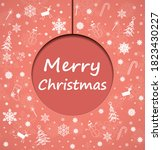 merry christmas  new year... | Shutterstock .eps vector #1823430227