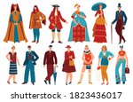 fashion people in history...   Shutterstock .eps vector #1823436017