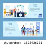 laundry  dry cleaning vector... | Shutterstock .eps vector #1823436131
