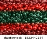 Christmas Beads Red Green Color ...