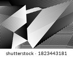 abstract halftone lines... | Shutterstock .eps vector #1823443181