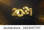 happy new year 2021. holiday... | Shutterstock .eps vector #1823447747