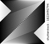 abstract halftone lines black... | Shutterstock .eps vector #1823490794
