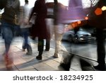 close up shot of a busy people... | Shutterstock . vector #18234925