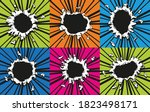 set of comic book holes. vector ... | Shutterstock .eps vector #1823498171