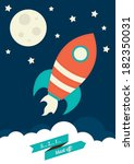 space rocket | Shutterstock .eps vector #182350031