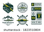 set of vector kayaking logo ... | Shutterstock .eps vector #1823510804