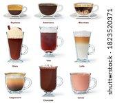 Set Of Vertical Cut Of Cups...