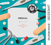 medical template with medicine... | Shutterstock .eps vector #182352647
