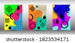 modern abstract vector banner... | Shutterstock .eps vector #1823534171
