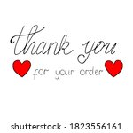 thank you for your order vector ...   Shutterstock .eps vector #1823556161