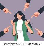 bulling blaming emotional... | Shutterstock .eps vector #1823559827