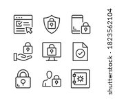 computer security line icons.... | Shutterstock .eps vector #1823562104