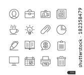 office   marketing icons set  ...