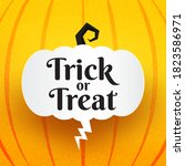 halloween trick or treat text... | Shutterstock .eps vector #1823586971