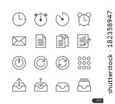 office   business icons set  ... | Shutterstock .eps vector #182358947