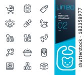 lineo   baby and childhood... | Shutterstock .eps vector #182358977