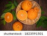 Orange Fruit In Bamboo Basket...
