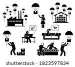 drop shipping business model... | Shutterstock .eps vector #1823597834