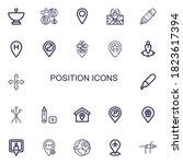 editable 22 position icons for... | Shutterstock .eps vector #1823617394