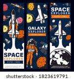 space exploration retro vector... | Shutterstock .eps vector #1823619791