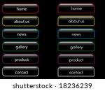 neon shiny button banner vector ... | Shutterstock . vector #18236239