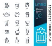 lineo   drink and alcohol... | Shutterstock .eps vector #182365211