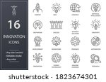innovation line icons. set of... | Shutterstock .eps vector #1823674301