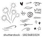 hand drawn set elements ...   Shutterstock .eps vector #1823681024