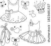 Ballet Dresses Set. Vector...