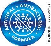 antiviral and antibacterial...   Shutterstock .eps vector #1823690471