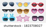colorful sunglasses of... | Shutterstock .eps vector #1823708027