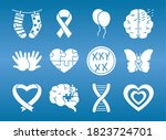 Icon Set Of Down Syndrome And...
