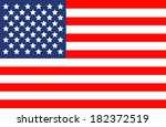 american flag vector | Shutterstock .eps vector #182372519