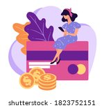 managing banking accounts and... | Shutterstock .eps vector #1823752151