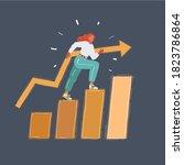 cartoon vector illustration of...   Shutterstock .eps vector #1823786864