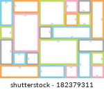 blank white advertising coupons.... | Shutterstock .eps vector #182379311