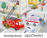 illustration of a city in one...   Shutterstock .eps vector #1823794907