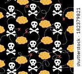 seamless pattern with cartoon... | Shutterstock .eps vector #182379821