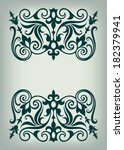 vector vintage ornate border... | Shutterstock .eps vector #182379941